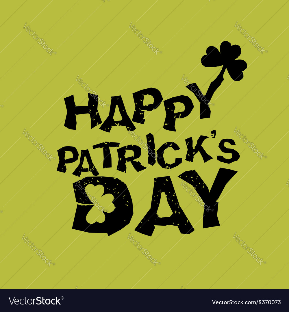 Happy Patricks day Logo for holiday in Ireland vector image