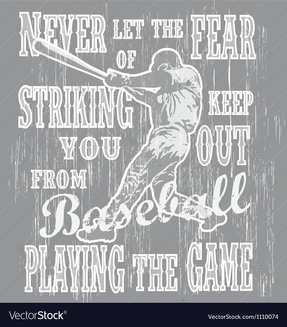 Baseball never fear vector image