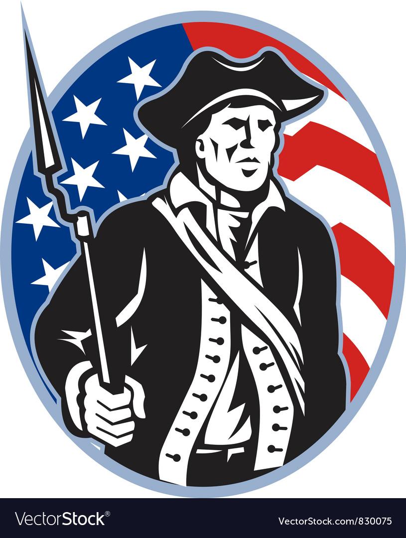 American Patriot Minuteman vector image