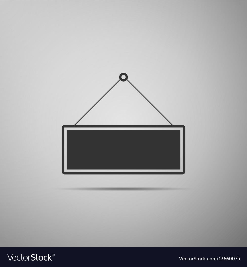 Signboard flat icon on grey background vector image