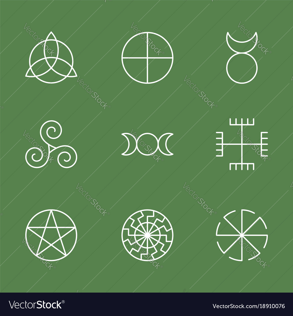 Sacred ancient symbols image collections symbol and sign ideas pagan ancient symbols mystery sacred icons vector image pagan ancient symbols mystery sacred icons vector image buycottarizona