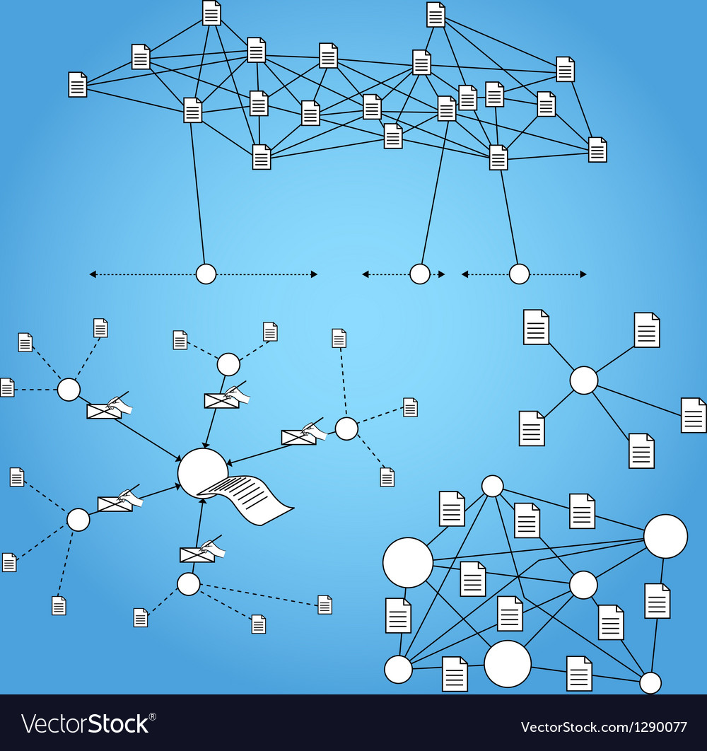 Network Infographic Elements vector image