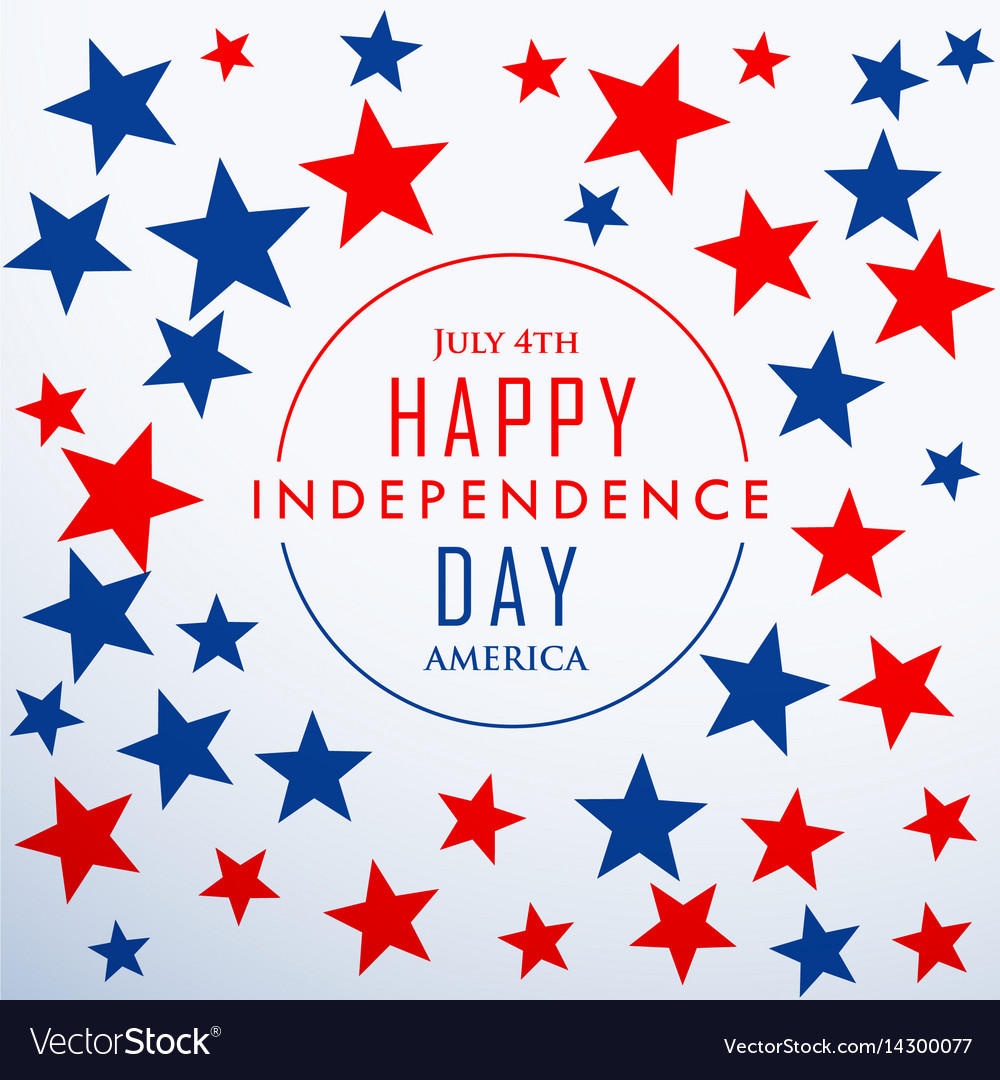 Happy independence day with stars vector image