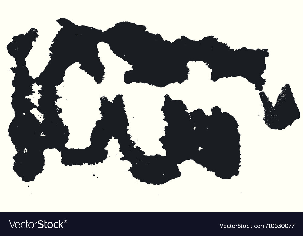 Splatter Black Ink Background vector image