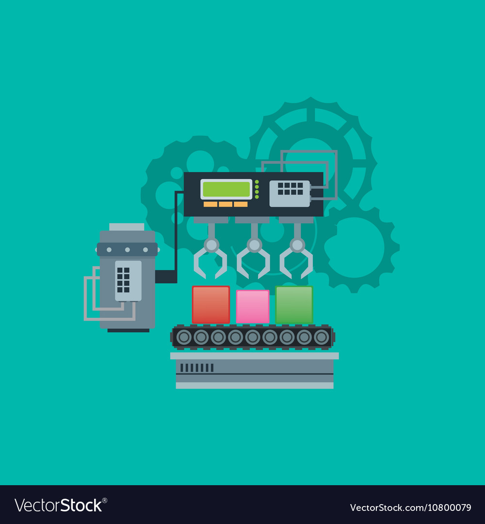 Industrial machine with gears image vector image