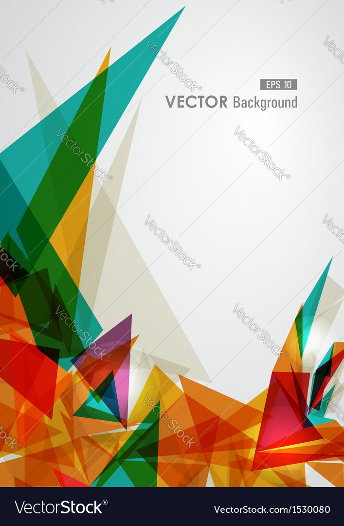 Colorful geometric transparency vector image