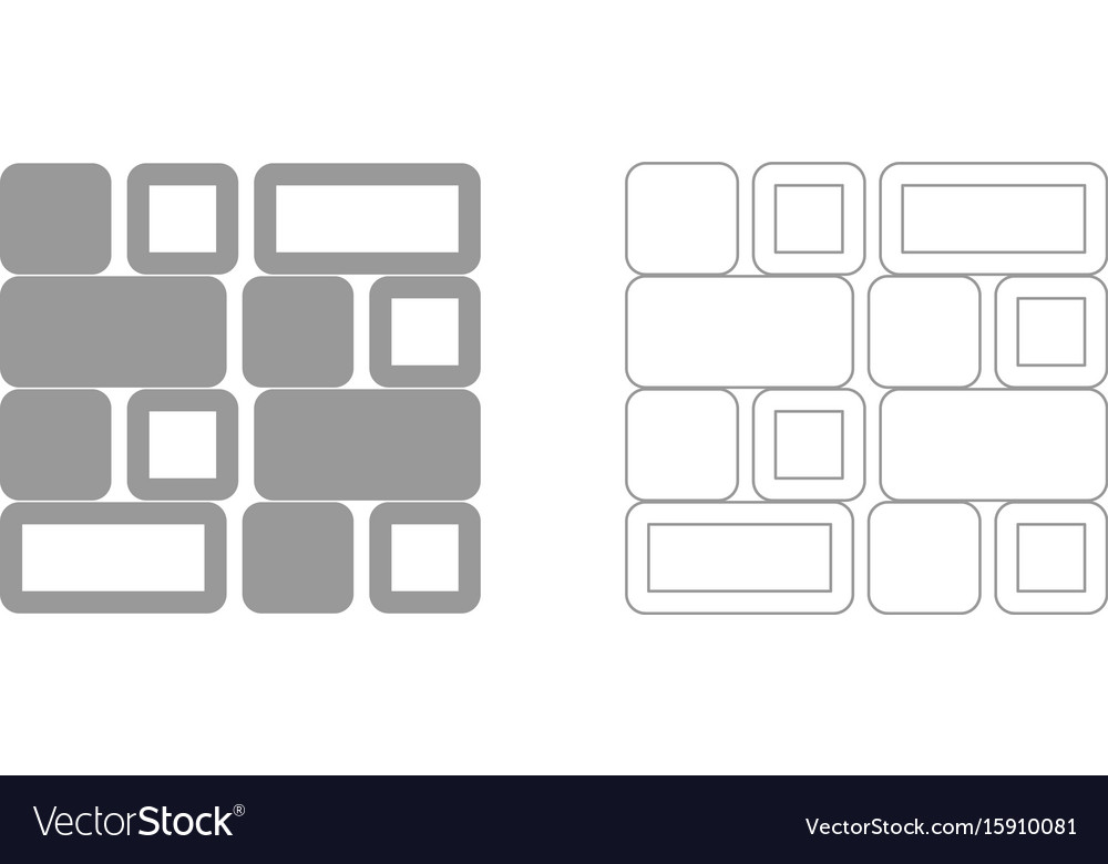 Tile set icon vector image