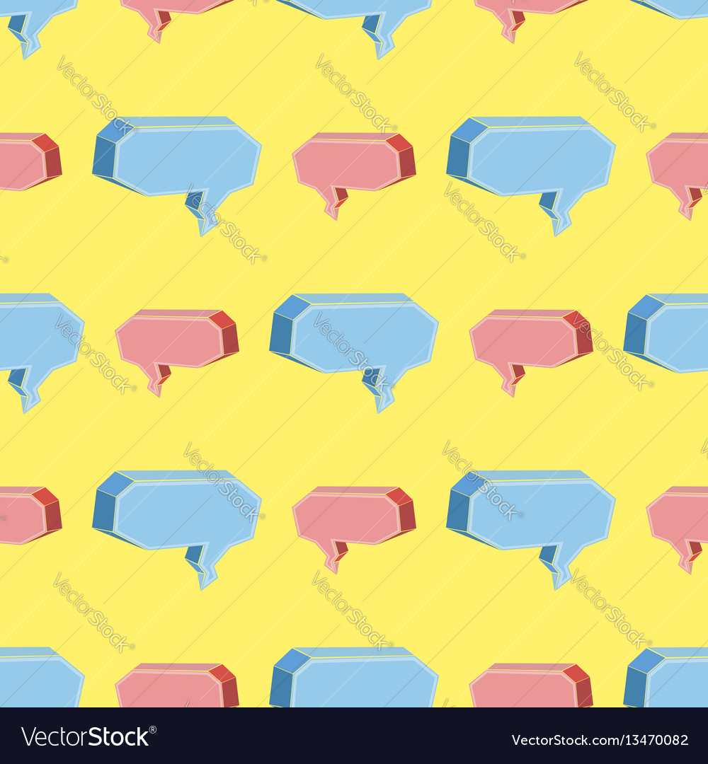 Colorful speech bubbles seamless pattern vector image
