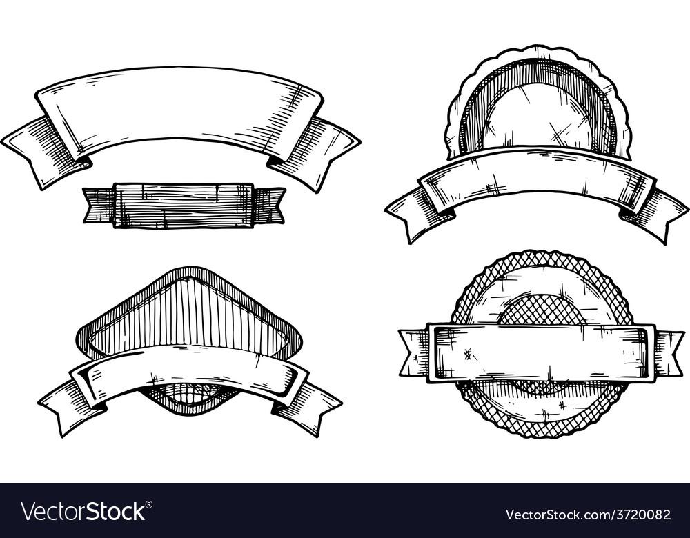 Retro labels vector image