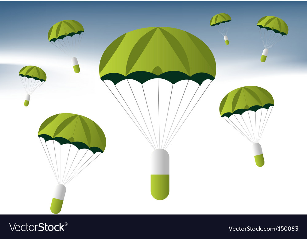Medication drop vector image