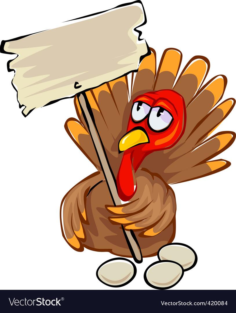 cartoon turkey royalty free vector image vectorstock