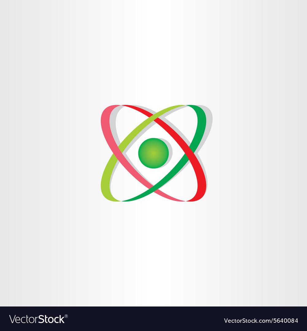 Molecule icon atom symbol logo vector image