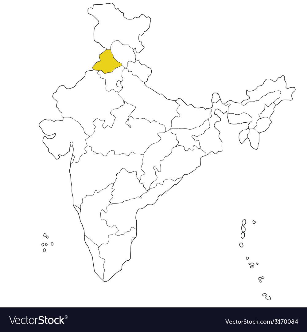 Punjab vector image