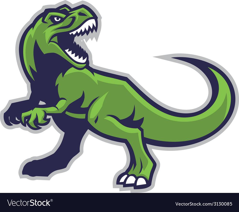 Trex mascot vector image
