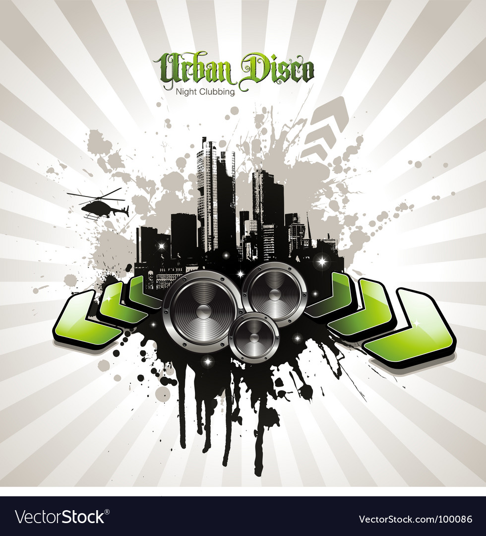 Urban disco Vector Image