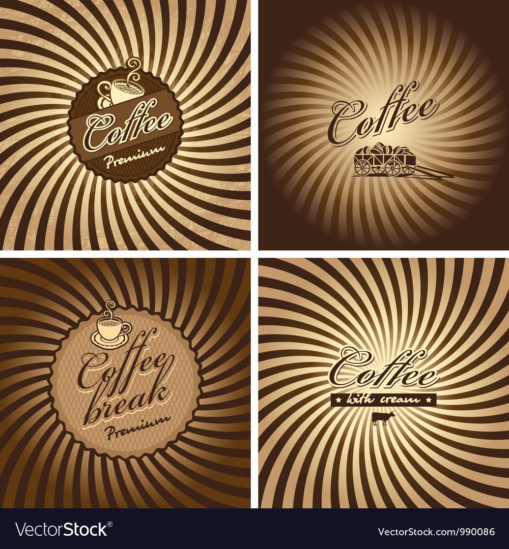 Coffee spiral vector image