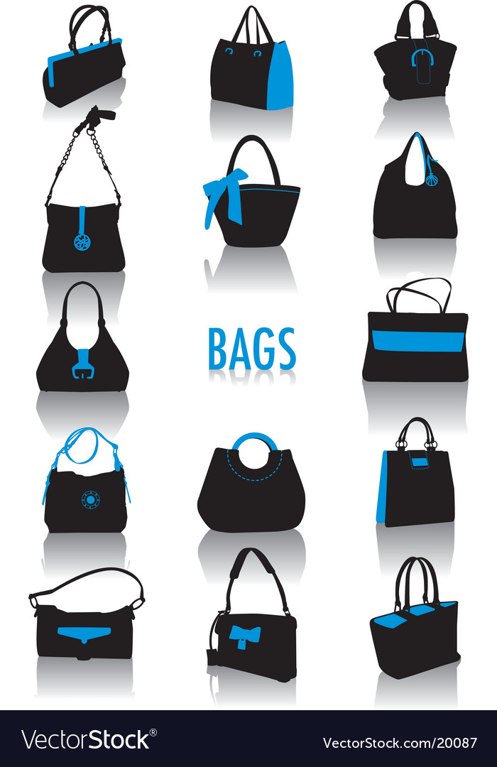 Bags silhouettes vector image