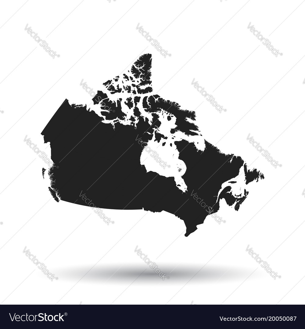Canada map icon flat canada sign symbol with vector image
