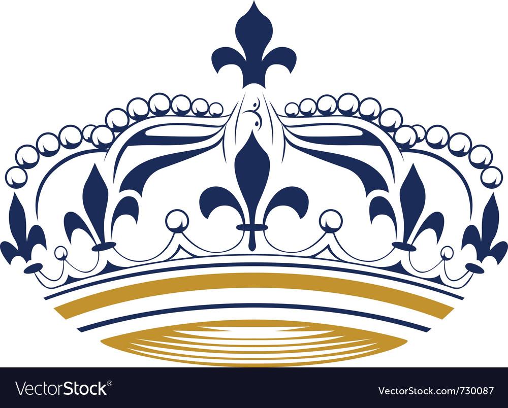 Retro king crown vector image