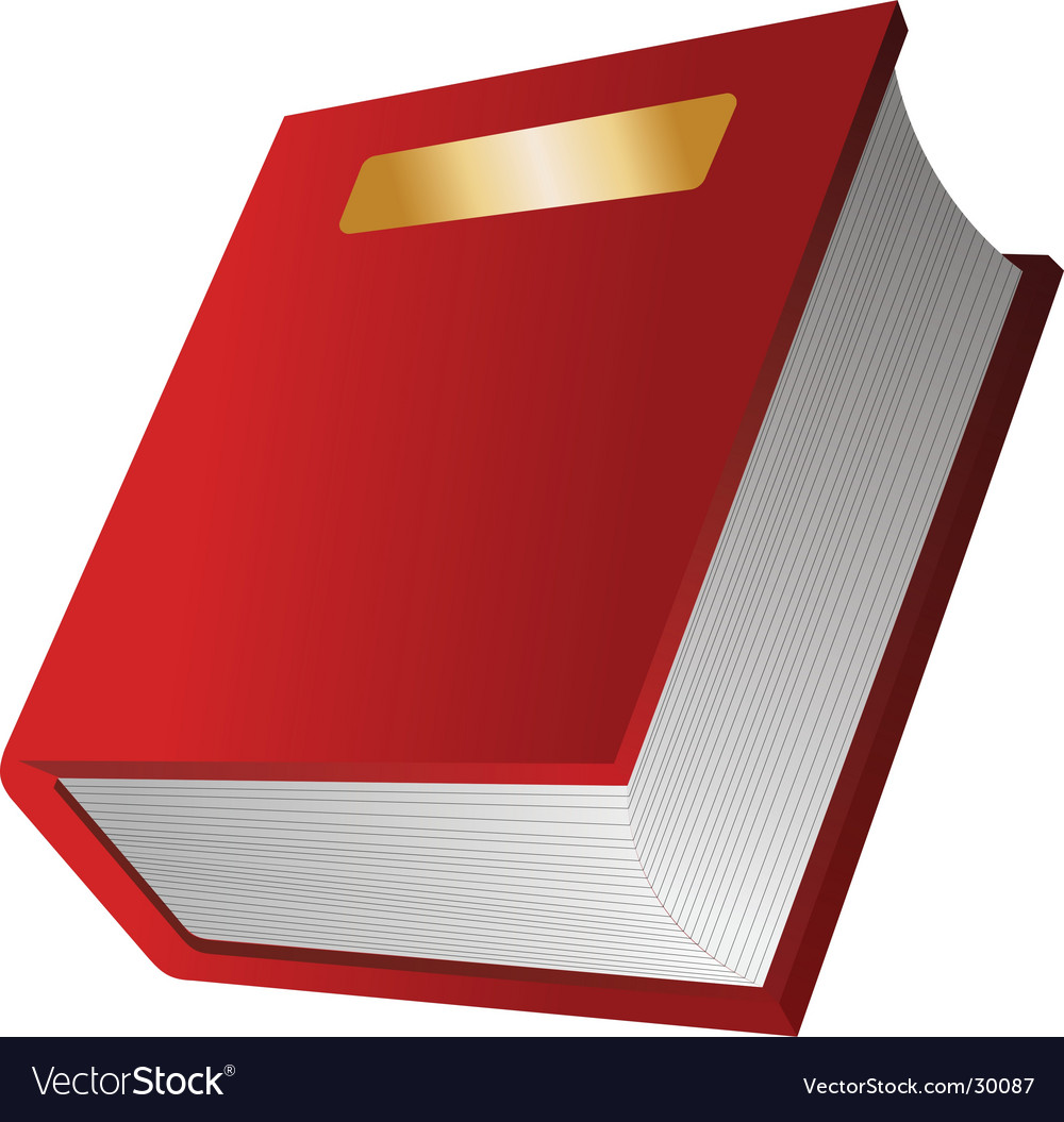 The red book vector image