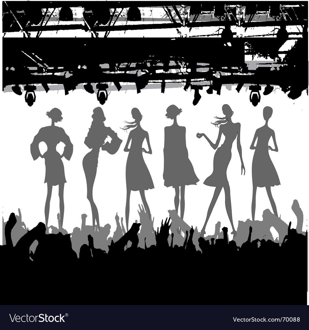 Fashion podium silhouette vector image