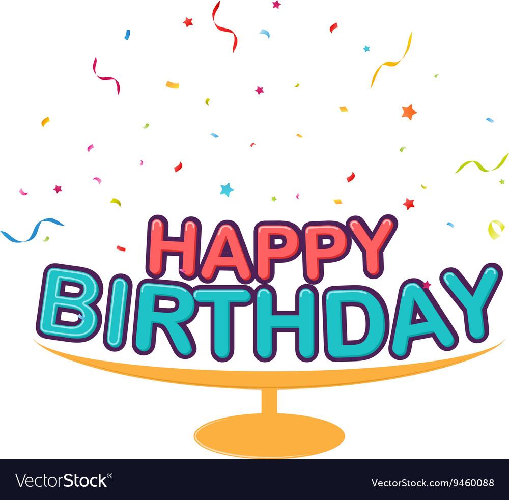 Birthday decoration background vector image