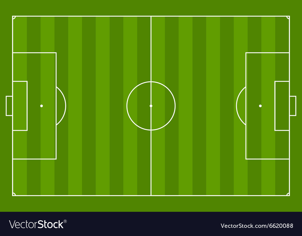 Green soccer field background vector image