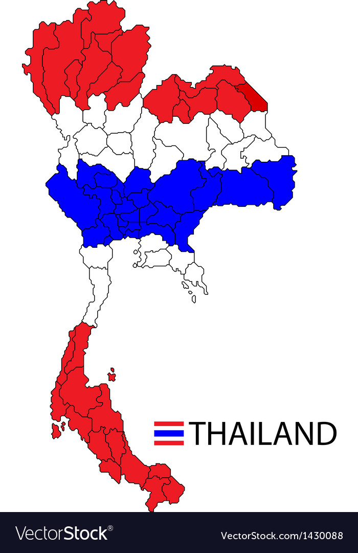 Map of kingdom of thailand royalty free vector image map of kingdom of thailand vector image gumiabroncs Images
