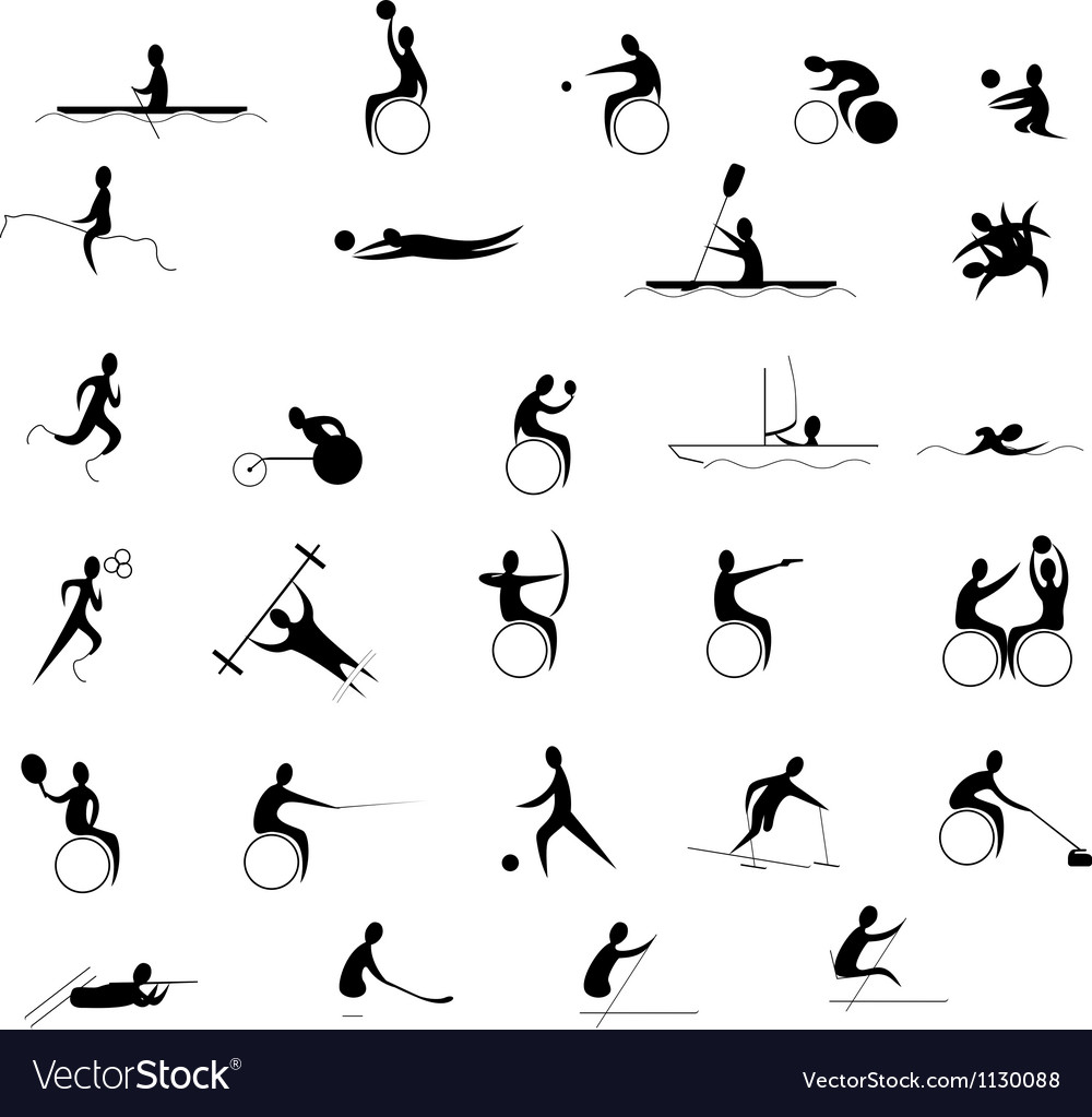 Paralympic games set vector image