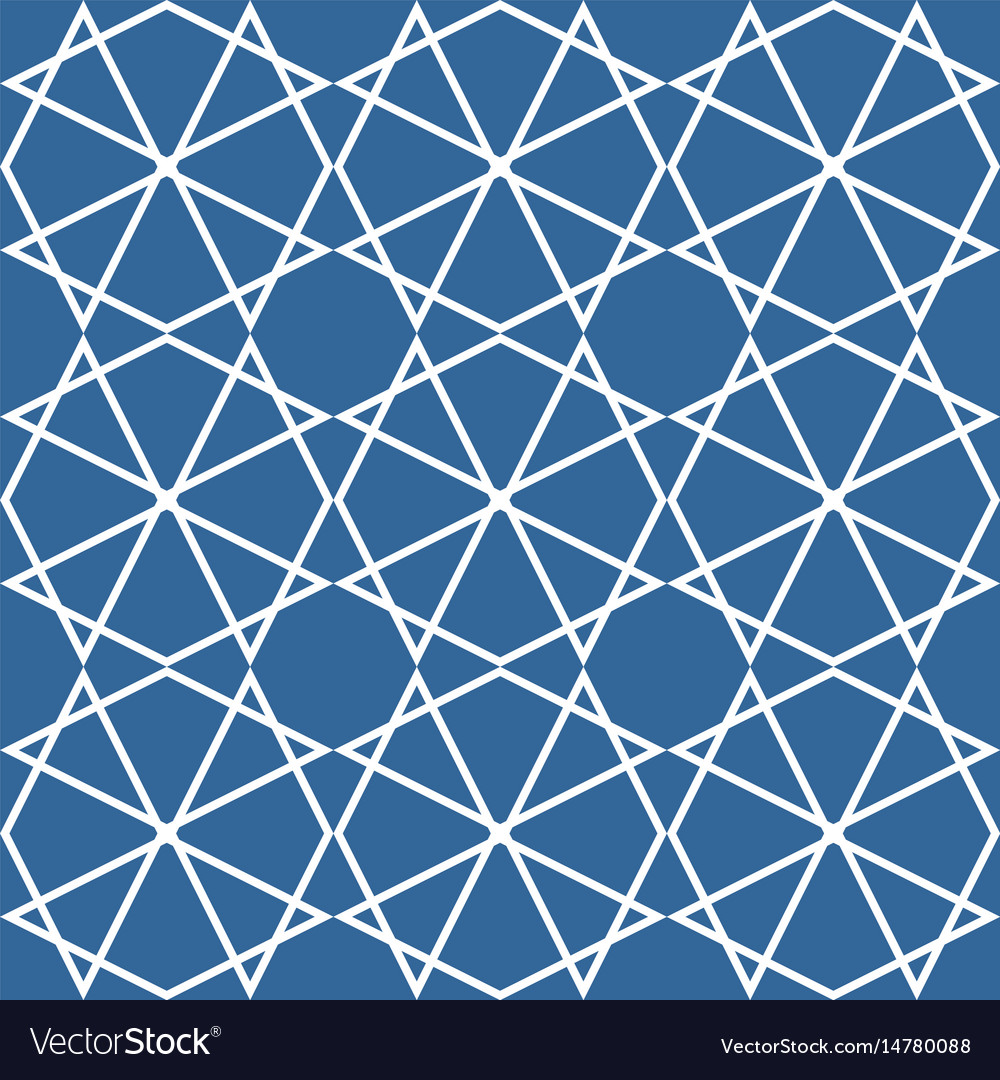 Tile pattern or blue and white background vector image