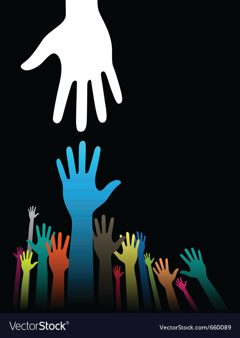 Helping hand vector image