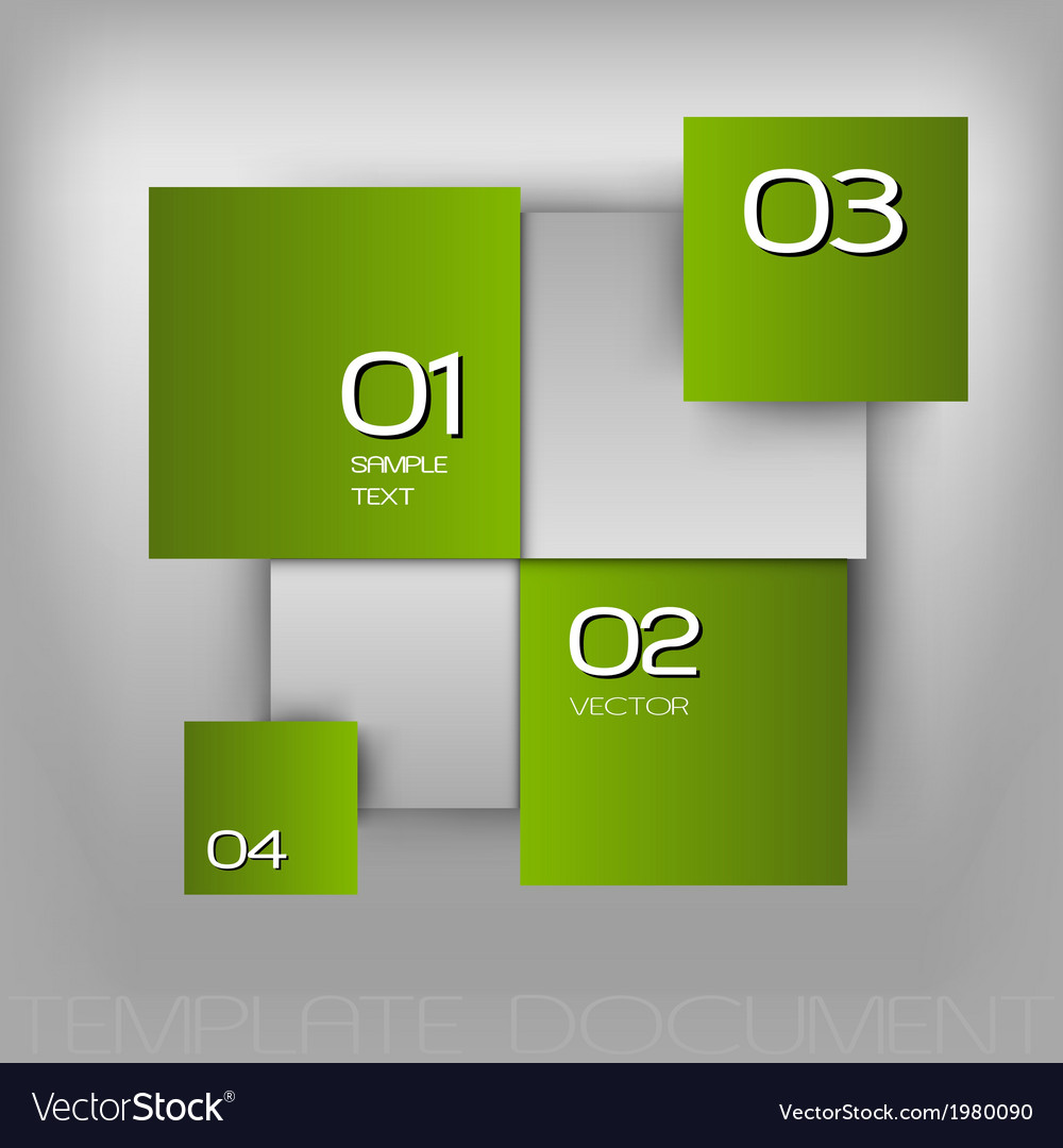 Business squares light green with text vector image