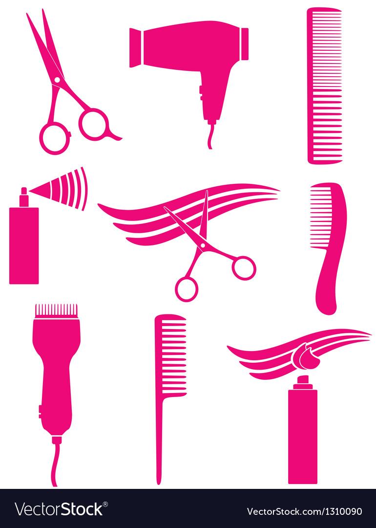 Set of hairdresser tools vector image