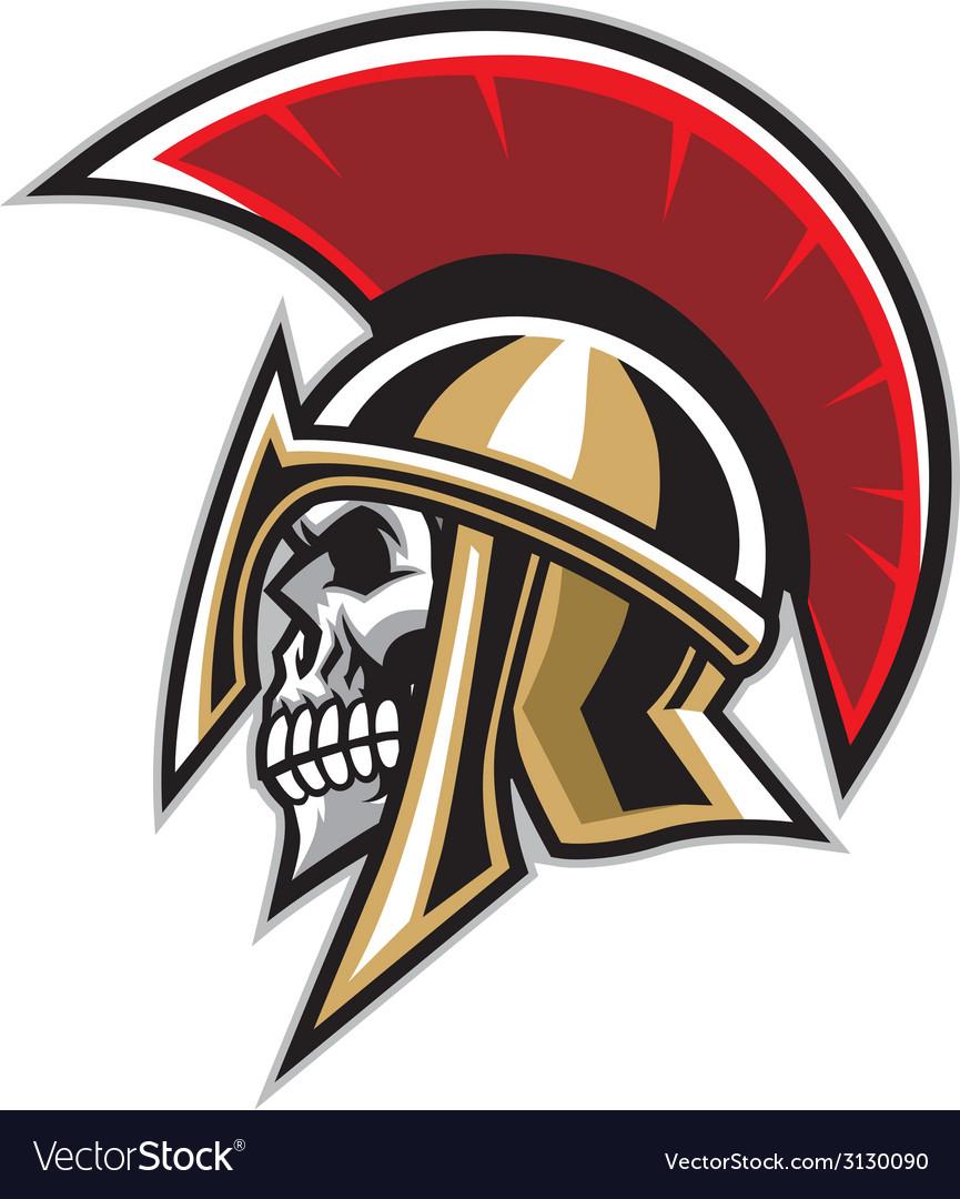 Warrior skull vector image