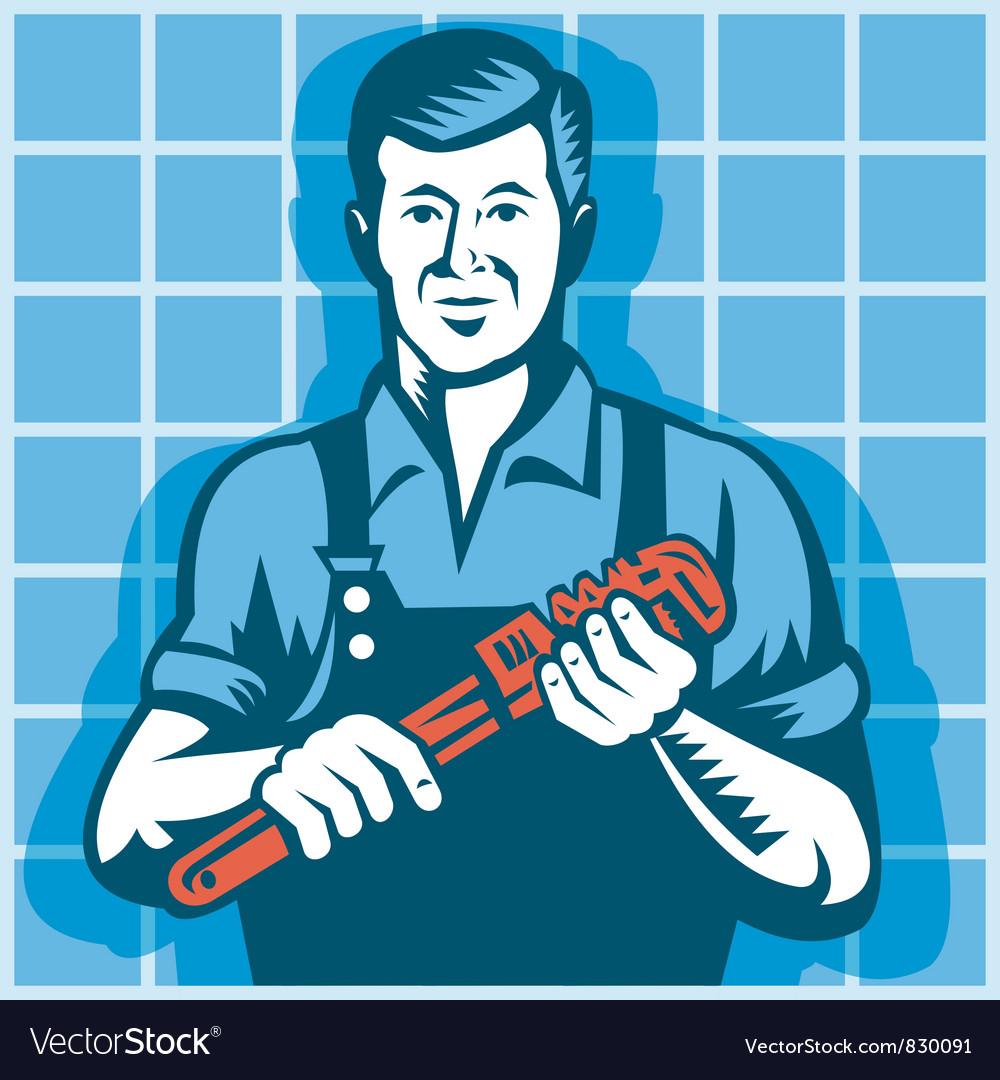 Plumber Worker vector image