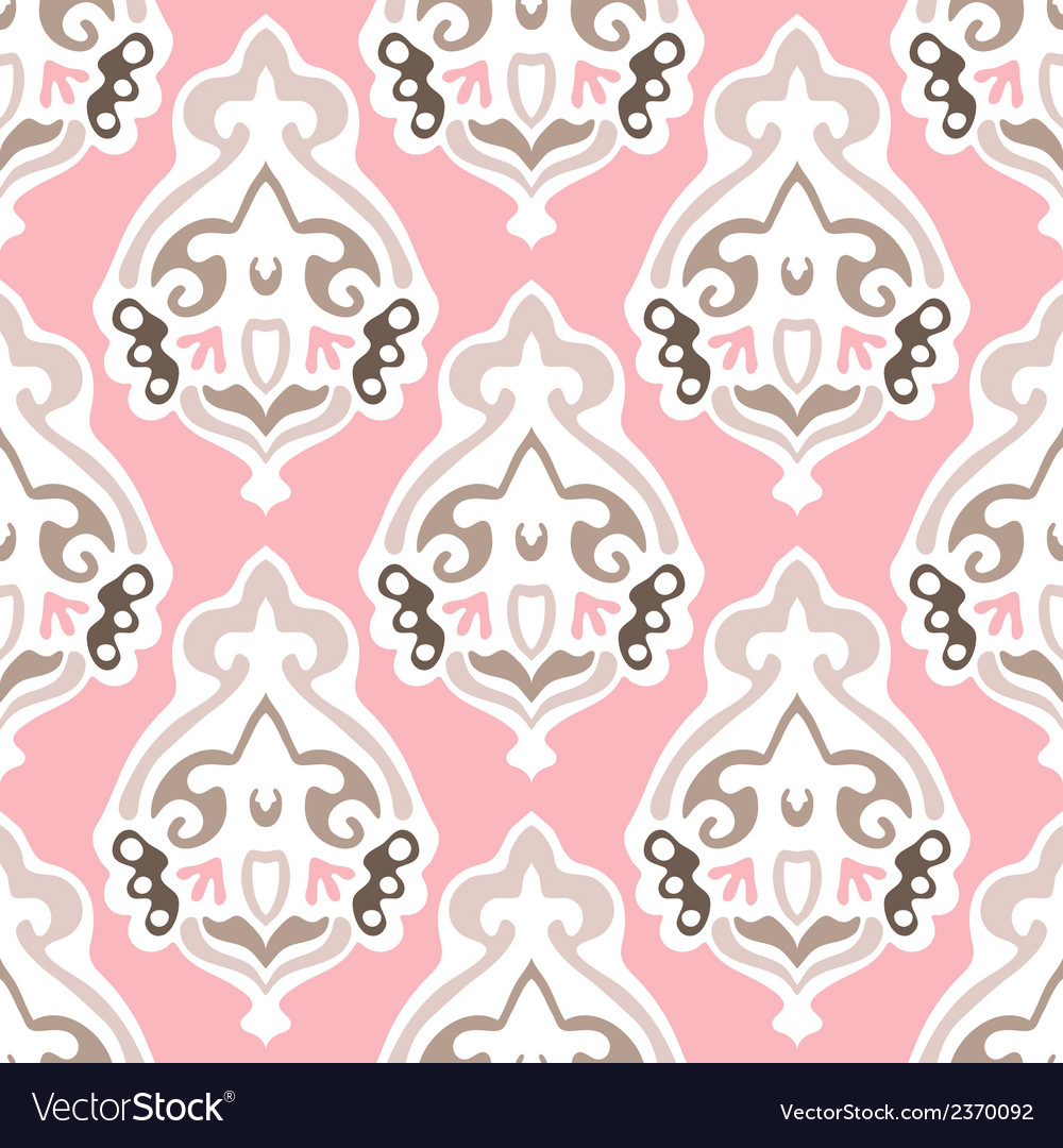 Damask seamless design vector image