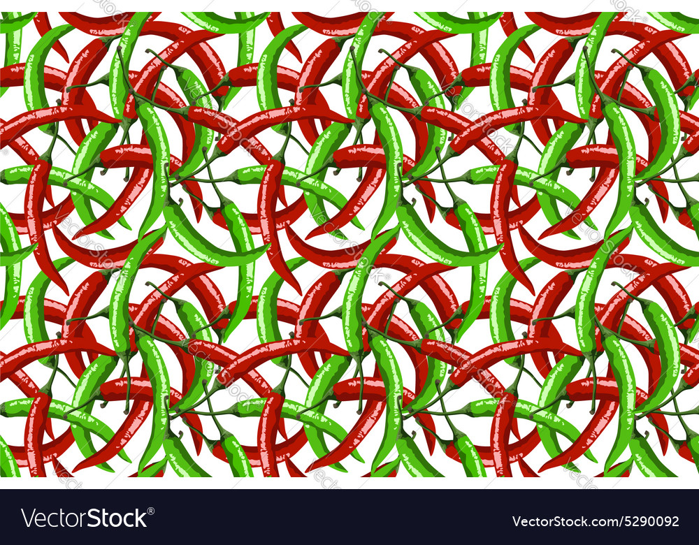 Hot red peppers seamless pattern vector image