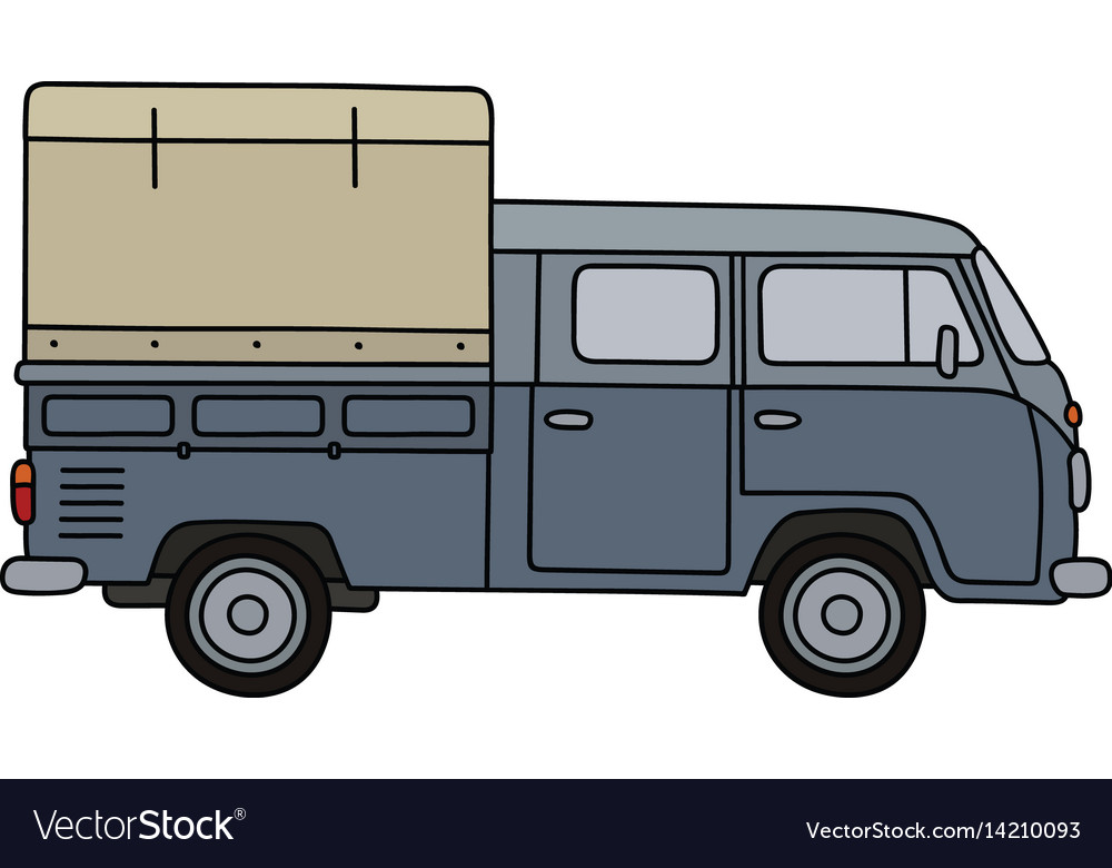 Old delivery car vector image