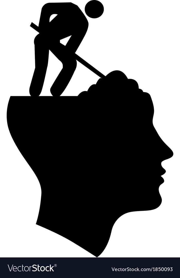 Under Construction Head vector image