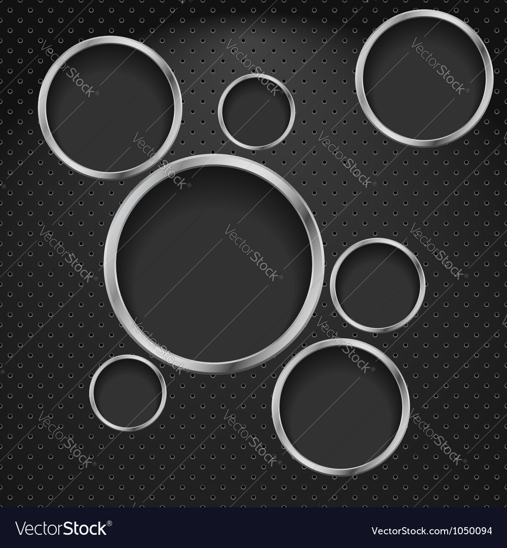 Abstract metal background vector image
