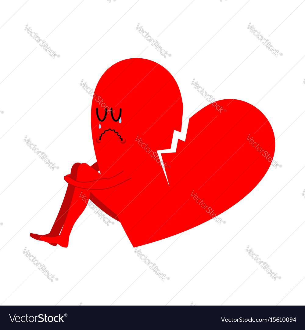 Broken heart symbol of unrequited love sad sign vector image broken heart symbol of unrequited love sad sign vector image buycottarizona