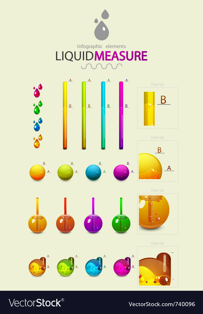 Infographic liquid elements vector image