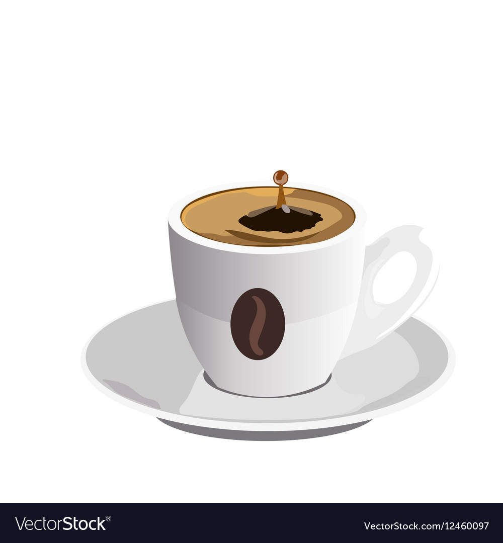Fresh Coffee cup isolated vector image