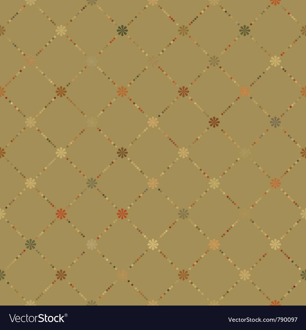 Retro dot pattern vector image