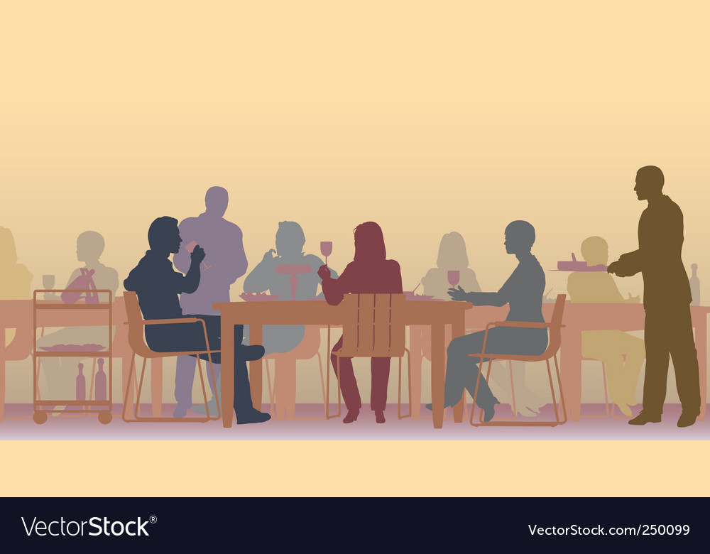 Toned restaurant vector image