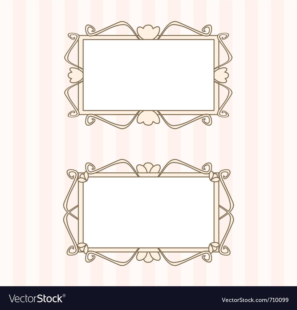 Retro fancy art deco frames vector image