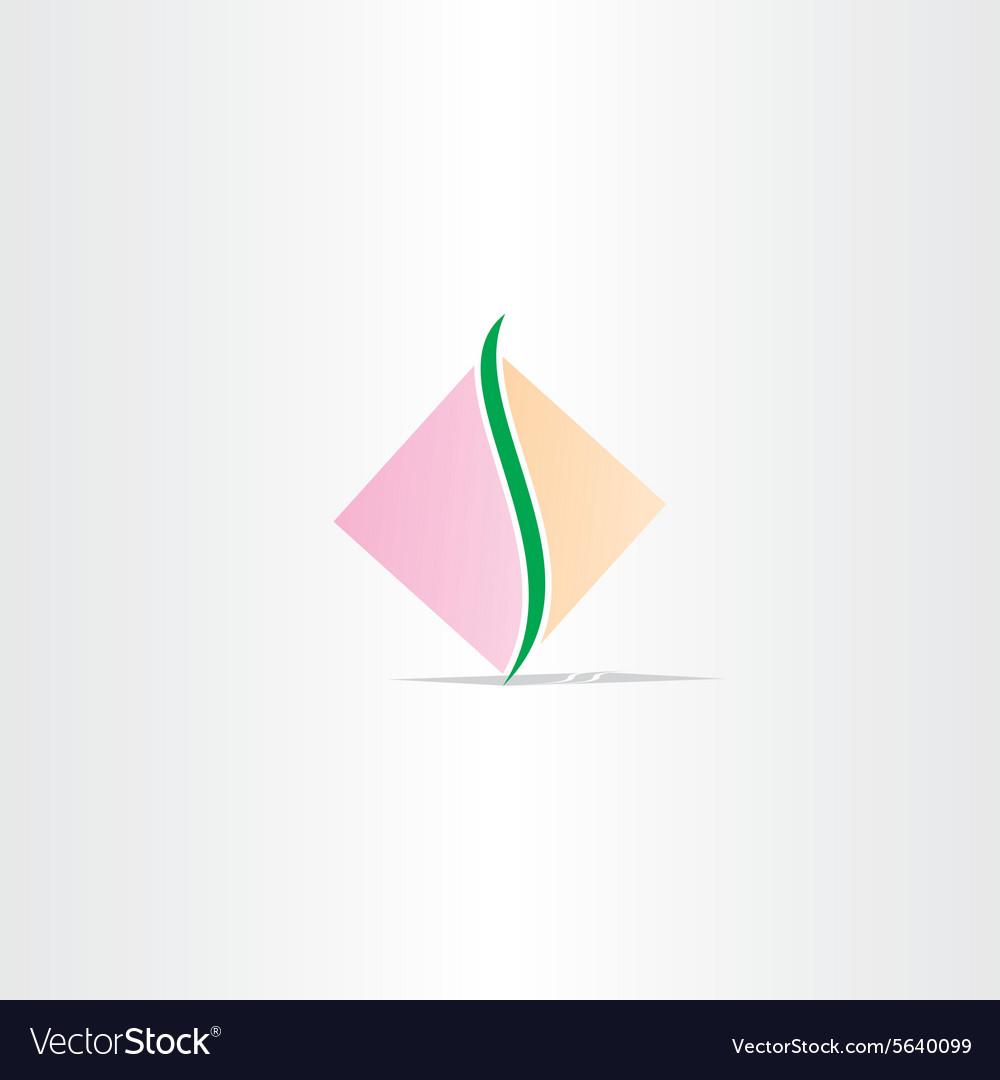 Square spine logo design vector image
