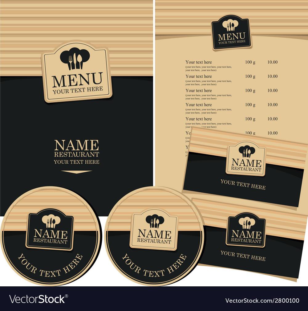 Design restaurant vector image