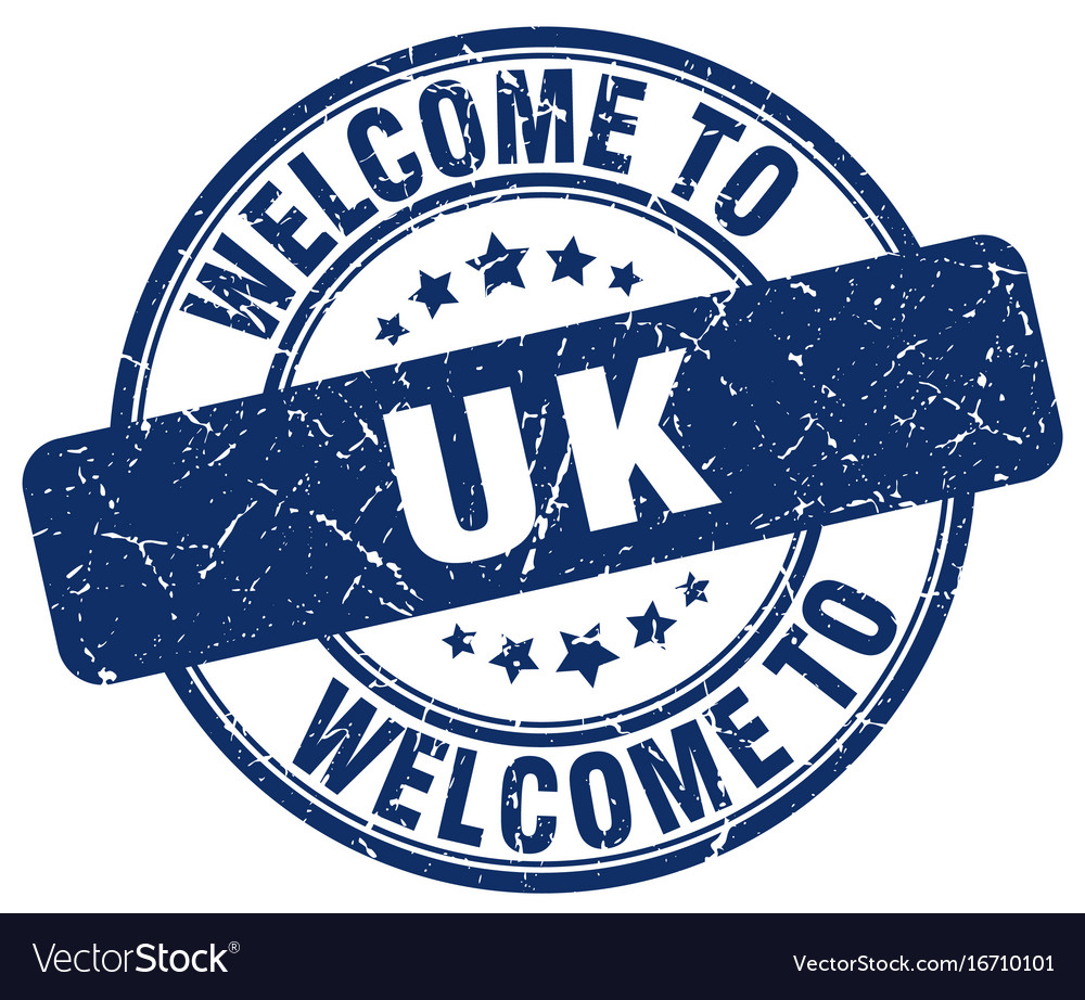 Welcome to uk vector image