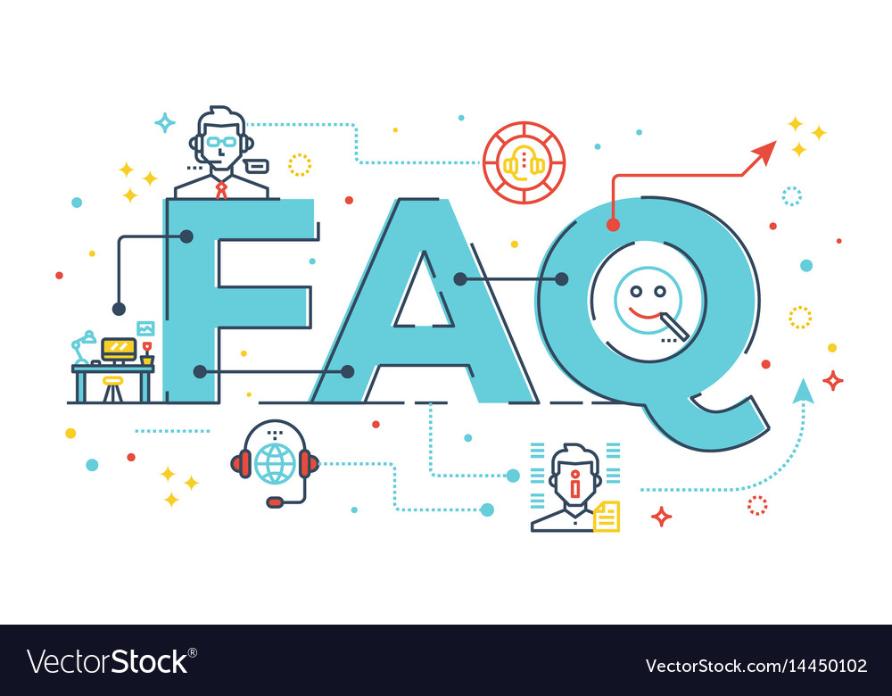 Faq frequently asked questions vector image